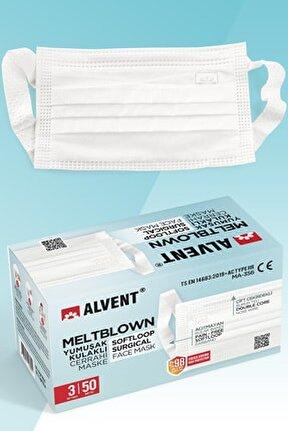 Beyaz Meltblown Maske 50 Adet - Yumuşak Kulaklı - En Az %98 Koruma - Sertifikalı -tıp2r