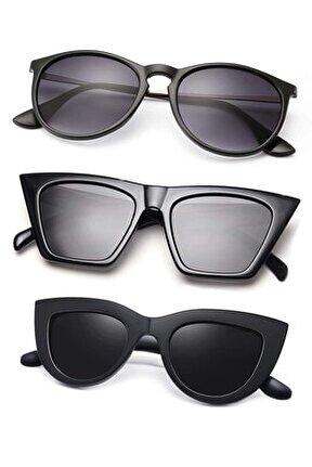8045set11 Vintage Büyük Cateye-vog Model Ve Erica Model 3'lü Kadın Gözlük Seti