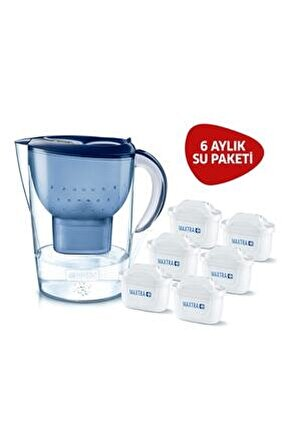 Marella Xl Su Arıtmalı Sürahi Mavi - 6 Filtreli