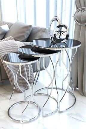 Gümüş Rüya Model Zigon Sehpa (FÜME AYNALI)