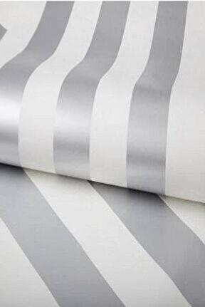 Gümüş Rengi Çizgili Duvar Kağıdı (5 M²)  1911