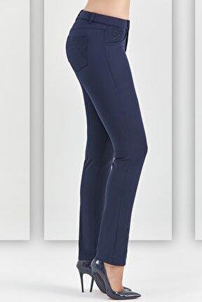 Guıtar Kadın 20841-c Lacivert Pantolon