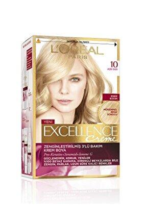 Excellence Creme Saç Boyası 10 Açık Sarı