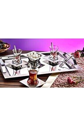 40 Parça Gülhane Altın Saten Çay Seti Es-1468