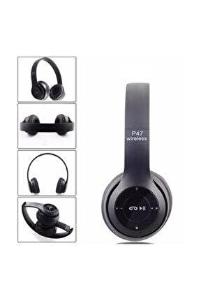 P47 Siyah Wireless Bluetooth Kulaklık