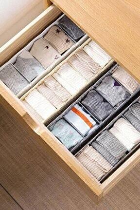 4 Adet 5 Gözlü Çekmece Içi Çorap Düzenleyici