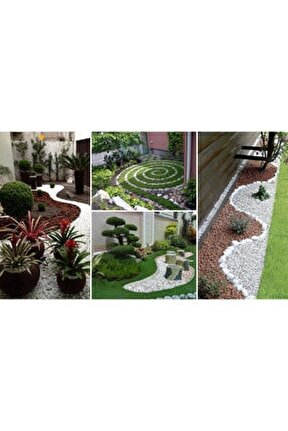Beyaz Dolomit 5 Kg 6-10 Cm Taş Dekoratif Taş Bahçe Süs Taşı