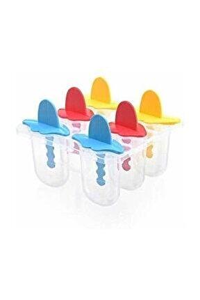 Çubuklu Dondurma Yapma Kalıp Kap Kase 6 Lı Dondurma Kalıbı