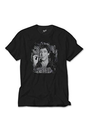 Siyah Scarface Smokey Tişört