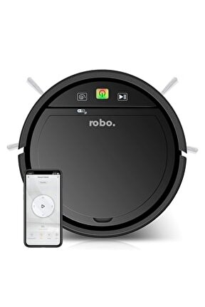 Robo Akıllı Robot Süpürge Siyah