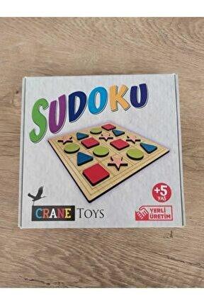 Çocuklar Için Şekillerle Ahşap Sudoku
