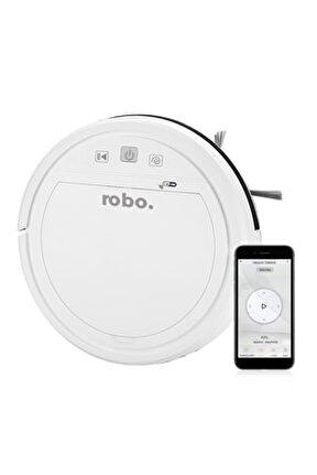 Robo Akıllı Robot Süpürge Beyaz