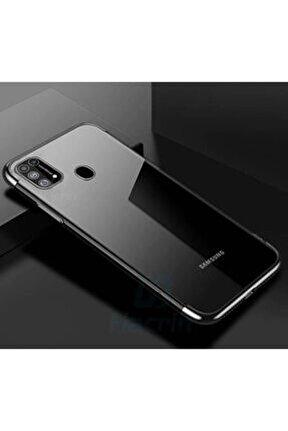 Samsung Galaxy M31 Kamera Korumalı Şeffaf Kenarları Renkli Kılıf