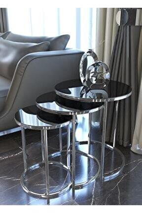 Gümüş Zigon Sehpa (Füme Ayna)
