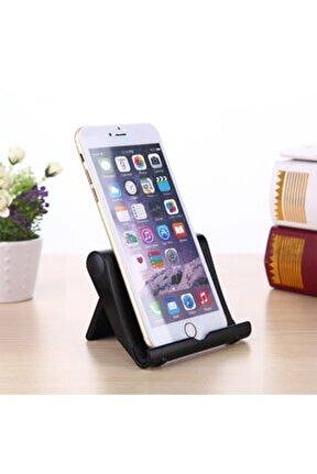 Tablet-telefon Masaüstü Katlanır Standı Ayarlanabilir Kademeli Siyah