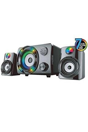 2+1 Oyuncu 7 Renkli Led Değişimi Bluetooth +usb-sd-fm Gamıng Ses Sistemi