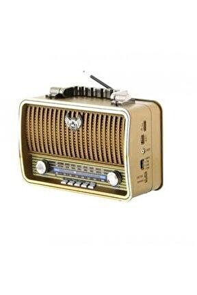 Md-1909bt Bluetootlu Nostaljik Radyo Ahşap Büyük Boy