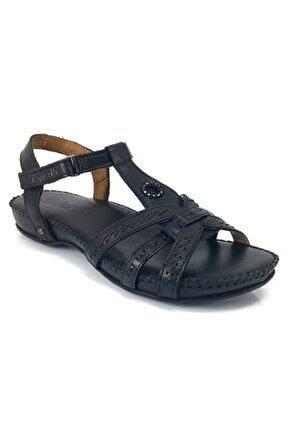 23109 Günlük Anatomik Bayan Sandalet-siyah