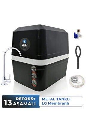Dora 13 Aşamalı Metal Tanklı Lg Membranlı Kapalı Kasa Su Arıtma Cihazı (DNP13-M-L)