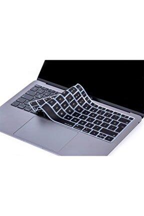Laptop Macbook Air 13inc Klavye Koruyucu A1932 2018/2019 Uyumlu Türkçe Baskılı Silikon Kılıf 1703