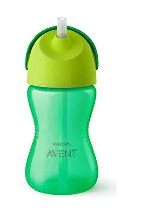 Yeşil Pipetli Bardak 300 ml Yeni Model