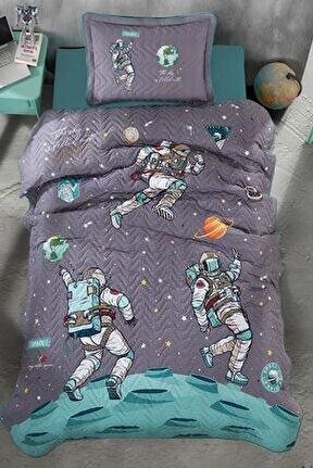 Aran Tekstil %100 Pamuk Genç Yatak Örtüsü-space Antrasit
