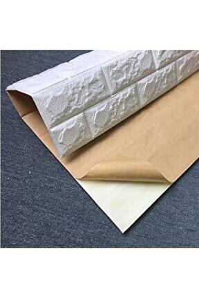 Kendinden Yapışkanlı 8,5 Mm Kalınlık Nw01 70x77 Cm 8,5mm Sünger Beyaz Tuğla Duvar Paneli 1 Adet