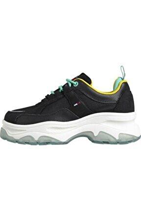 Kadın Siyah Sneaker Flatform Shoe