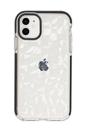 Iphone 12 3d Prizma Dokulu Renkli Kenar Detaylı Şeffaf Silikonlu Telefon Kılıfı