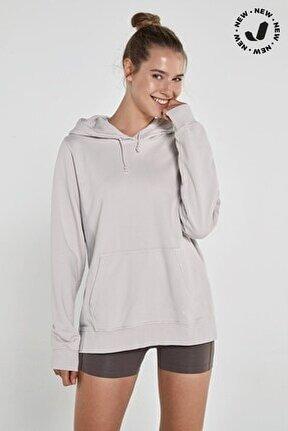 Lydney Kadın Kapüşonlu Sweatshirt Bej