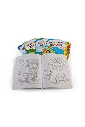 5 Adet Boyama Kitabı Seti 1. Hamur Toplam 5 Kitap 240 Sayfa