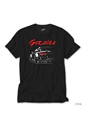 Nissan Gtr Godzilla Siyah Tişört