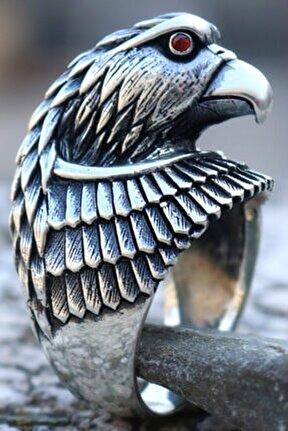 925 Ayar Gümüş Özel Tasarım Kartal Yüzük