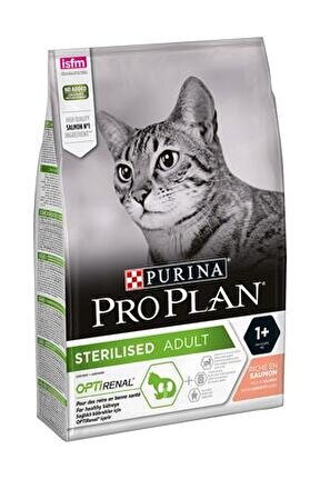 Kısırlaştırılmış Somonlu Kuru Kedi Maması 3 Kg