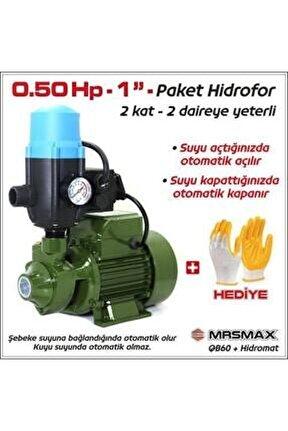 "Paket Hidrofor Otomatik Su Pompası 0.5 Hp 1"" Hidrofor Set Pompa 1 Kat 1 Daire"