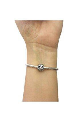 Z Harfi Pandora Bilekliklerine Uyumlu Gümüş Charm