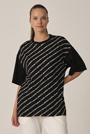 Baskılı Oversize T-shirt (un-70417)
