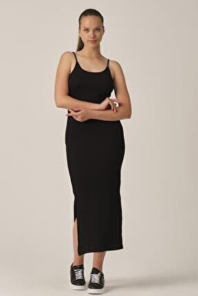 Askılı Yırtmaçlı Elbise (b21-46900)