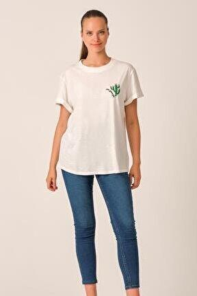 Nakışlı Basic T-shirt (george20-003)