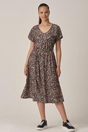 Yırtmaçlı Günlük Elbise (col20-018)