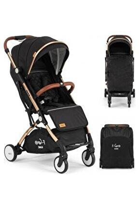 F-go Kabin Bebek Arabası Gold Şasi Siyah