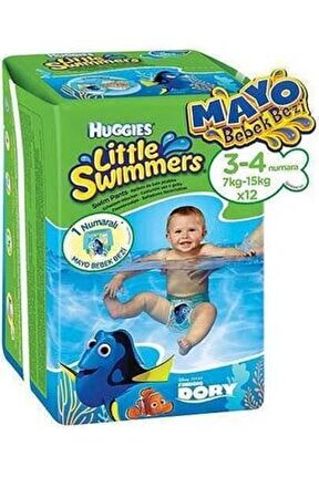 Little Swimmers Mayo Bebek Bezi S-m 12 Adet 7-15 kg
