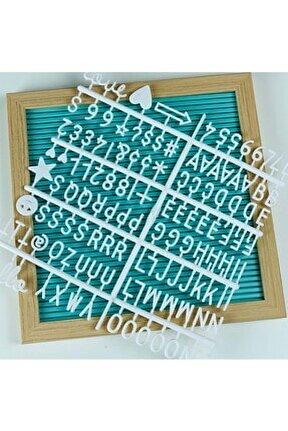 Değiştirilebilir Yazı Panosu Mesaj Tahtası; Mavi; 121 Harf Karakterli