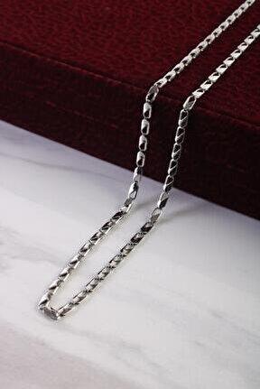 Unisex Zincir Kolye Gümüş Renk