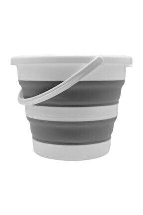 Tini Mini Art Katlanır Silikon Su Kovası Banyo Temizlik Kovası Sk-315 12,8 Litre