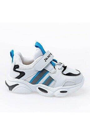 Çocuk Spor Ayakkabı 26056 B Whıte/blue/black