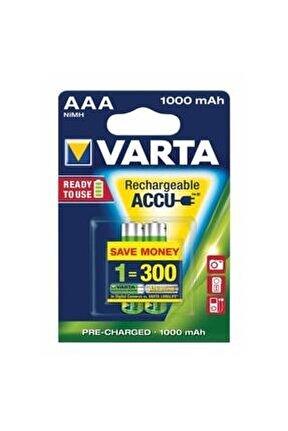 Aaa Şarjlı Ince Pil 1000 Mah 2'li