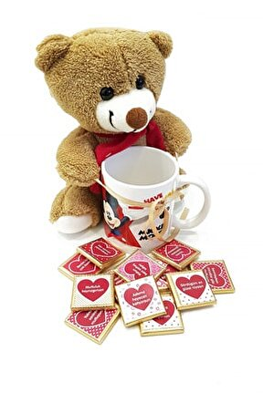 Mickey Mouse Kupa Ayıcık Ve Seni Seviyorum Çikolataları Yp117