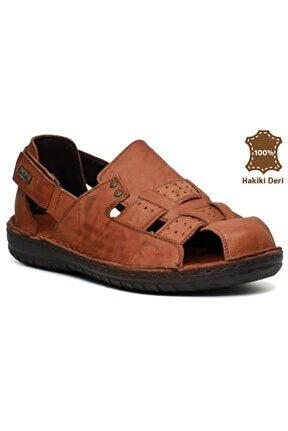 2367 Hakiki Deri Erkek Terlik Sandalet