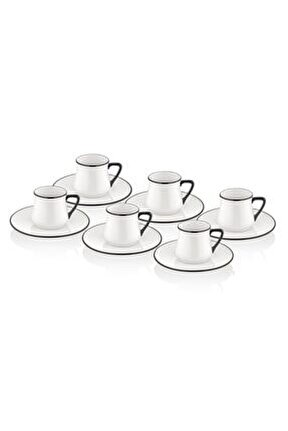 Kahve Fincanı Seti - 6 Kişilik Siyah